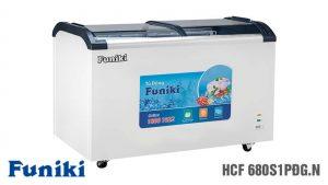 Tủ đông-Funiki-HC-680S1PDG-N1 ngăn 2 cánh lùa