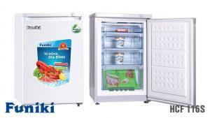 Tủ đông-Funiki-HCF-116S 4 ngăn 1 chế độ dạng đứng