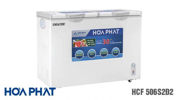 Tủ đông Hòa Phát-HCF-506S2D2 2 ngăn 2 chế độ