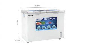 Tủ đông nằm 2 ngăn 2 canh mở Hòa Phát-HCF-506S2N2