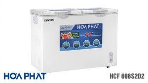 Tủ đông Hòa Phát-HCF-606S2D2 2 ngăn 2 chế độ