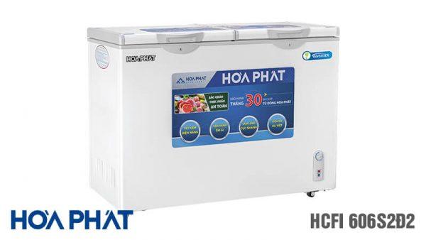 Tủ đông Hòa Phát-HCFI-606S2D2 Inverter 2 ngăn 2 chế độ