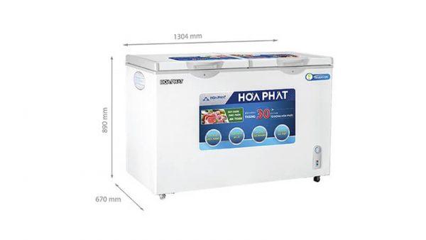 Tủ đông Hòa Phát-HCFI-666S1Đ2 Inverter 1 ngăn 1 chế độ